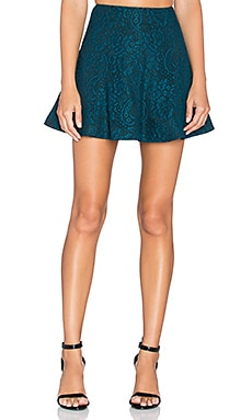 Lovers + Friends Tatum Skirt in Teal