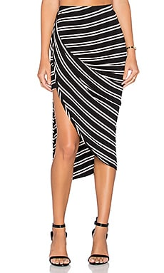 Lovers + Friends Imperial Skirt in Stripe