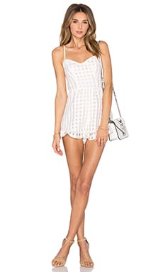 Lovers + Friends Gabriella Romper in Ivory