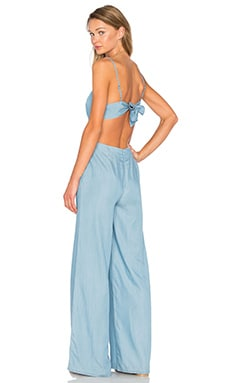 Gardenia Jumpsuit in Light Sky