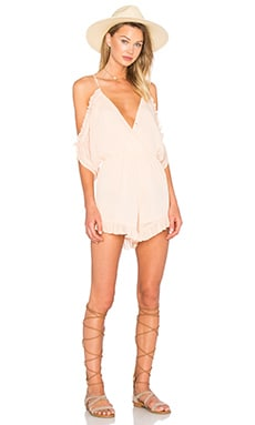 Lovers + Friends Malia Romper in Papaya