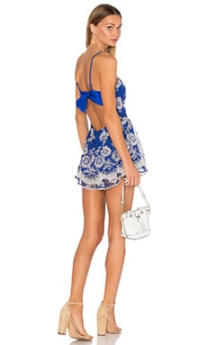 Lovers + Friends Gabriella Romper in Marine Blue