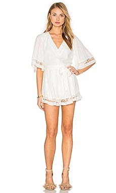 Lovers + Friends Serafina Romper in Ivory