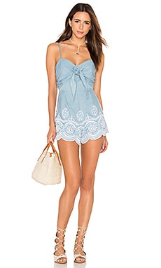 Lovers + Friends Bello Romper in Light Wash