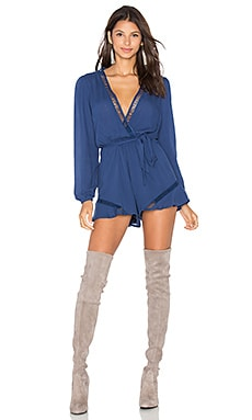 Lovers + Friends Ocean View Romper in Navy