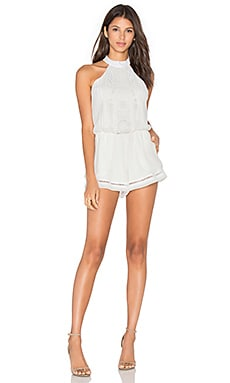 Lovers + Friends Your Girl Romper in Ivory