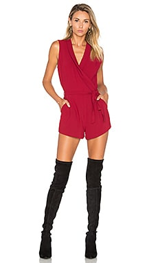 Distance Romper in Cranberry