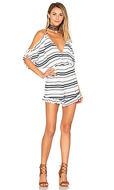 Malia Romper in Blue Stripe