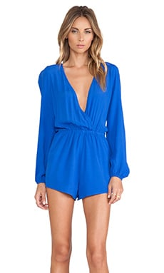 Lovers + Friends Monday to Friday Romper in Cobalt