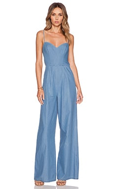 Lovers + Friends Gardenia Jumpsuit in Reef Chambray