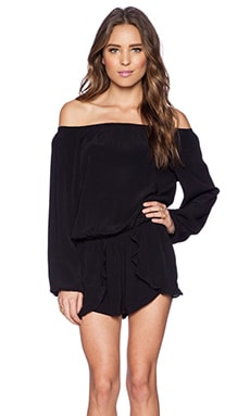 Lovers + Friends Carmella Romper in Black
