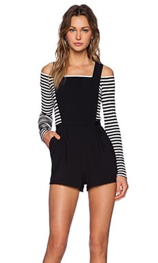 Lovers + Friends Finley Romper in Black