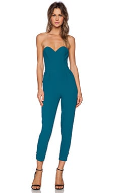 Lovers + Friends Dakota Jumpsuit in Emerald