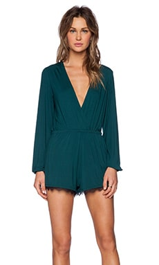 Lovers + Friends Monday To Friday Romper in Emerald