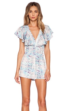 Lovers + Friends x REVOLVE Cleo Romper in Pastel Python
