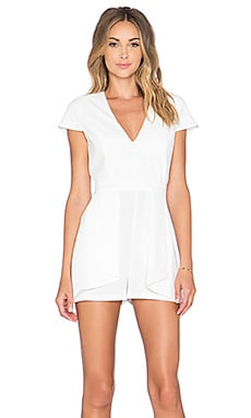 Lovers + Friends Cast Away Romper in Cream