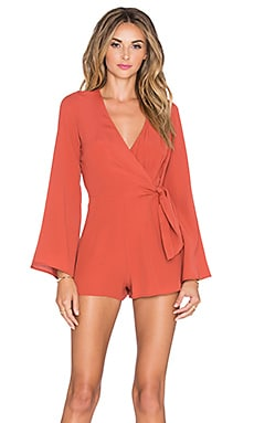 Lovers + Friends x REVOLVE Remi Wrap Romper in Burnt Orange
