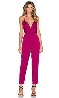 Lovers + Friends My Way Jumpsuit in Berry