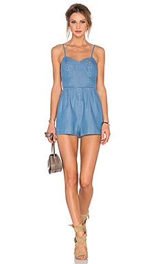 Lovers + Friends Gardenia Romper in Ocean