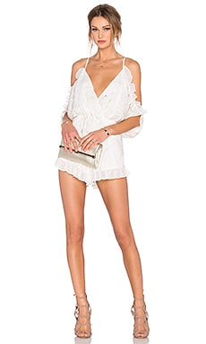 Lovers + Friends Malia Romper in Ivory