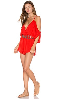 x REVOLVE Malia Romper in Red