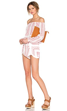 Lovers + Friends x REVOLVE Carmella Romper in Red Bella Scarf