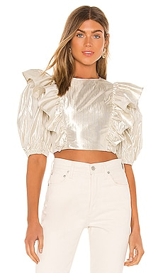 Marlisse Ruffle Cropped Top Lovers + Friends $168