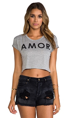 for REVOLVE Amor Cropped Tee in Heather Grey