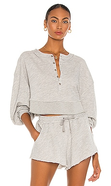 Oversized Henley Pullover Lovers + Friends $108 NEW