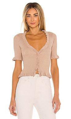 Carissa Ruffle Sweater Lovers + Friends $88 NEW