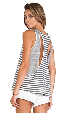 Lovers + Friends Macy Tank in Heather Grey Stripe