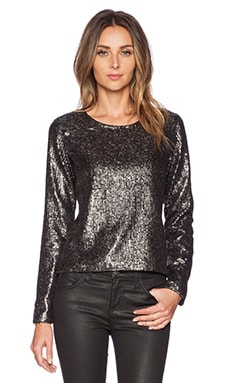 Lovers + Friends Bright Lights Top in Gunmetal