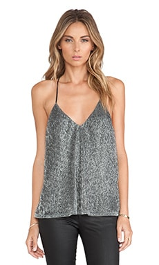 Lovers + Friends Touch The Sky Top in Charcoal