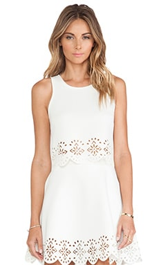 Lovers + Friends Ava Crop Top in Ivory