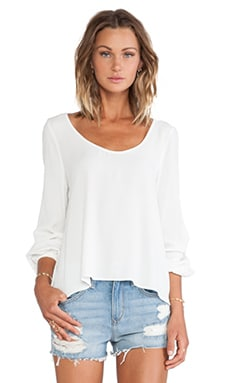Lovers + Friends Starlette Blouse in Ivory