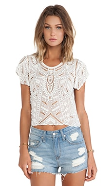 Lovers + Friends Daycation Crop Top in Ivory