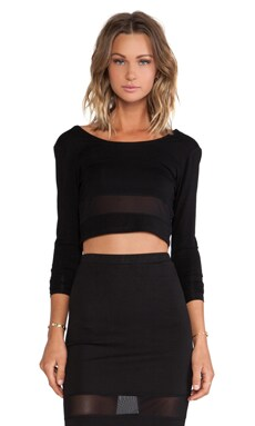 Lovers + Friends Say It Isn't So Crop Top in Black