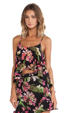 Lovers + Friends Long Weekend Crop Top in Tropical Bloom