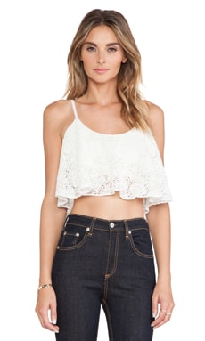 Lovers + Friends Delight Crop Top in Ivory