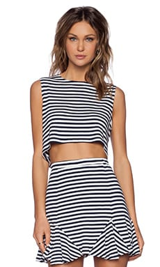 x REVOLVE Ludi Crop Top in Navy Stripe