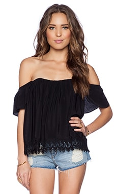 Lovers + Friends Life's A Beach Top in Black