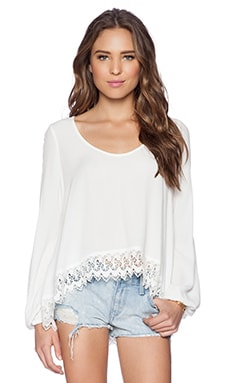 Lovers + Friends Lovers Day Blouse in Ivory