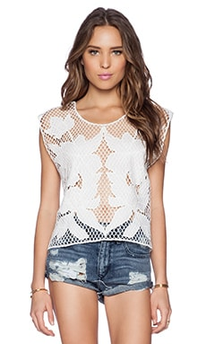 Lovers + Friends Ocean Dawn Top in Ivory
