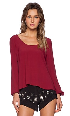 Lovers + Friends Starlette Blouse in Wine