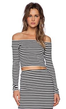 Lovers + Friends Megan Top in Black Stripe