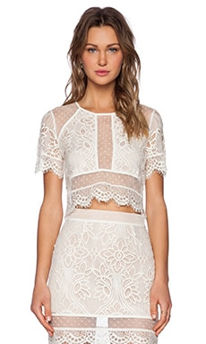 Lovers + Friends Ella Crop Top in Ivory