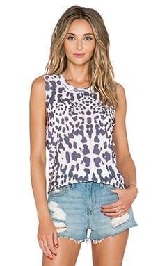 Lovers + Friends Muscle Tank in Leopard
