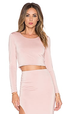 x REVOLVE Say It Isn't So Crop Top in Mauve