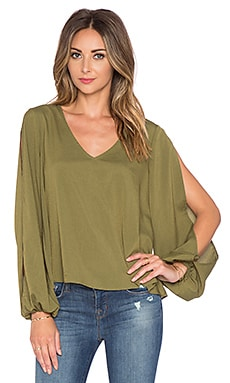 Lovers + Friends x REVOLVE Daydream Blouse in Army Green
