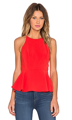 Lovers + Friends Bahama Peplum Tank Top in Coral